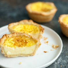 Paul's Egg Custard Tarts recipe: Inspired by The Great British Baking Show, I tried my hand at a classic Egg Custard Tart. The results were mostly successful and definitely delicious! Egg Custard Tart Recipe, Baked Egg Custard, Egg Tart, Tart Recipes, Baking Recipes, Dessert Recipes, Snacks Recipes, Almond Recipes, British Baking Show Recipes