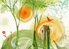 Janka Stašková - aJSha - počuť gagot husí / I hear geese - light therapy cca Light Therapy, A4, Lighting, Projects, Painting, Blue Prints, Painting Art, Lights, Paintings