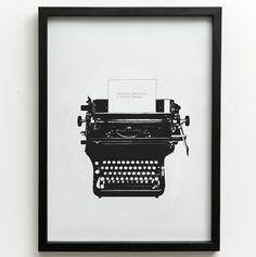 Design Vintage | Typed Love Print | One Must Dash | Typewriter
