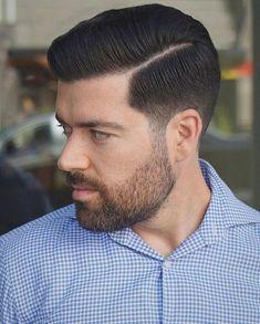 Pompadour Haircut Men's Hair in 2019 Hair cuts, Medium hair pompadour haircut how to style - Haircut Style Beard Haircut, Fade Haircut, Haircut Style, Style Hair, Men's Style, Hair Styles 2016, Medium Hair Styles, Short Hair Styles, Cool Haircuts