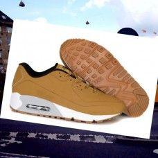 promo code 14623 6f24e EKTD452 Herre Nike Air Max 90 running Sko Brun Sharpei  8fsB5