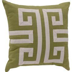Better Homes and Gardens Greek Key Decorative Pillow, Green
