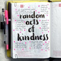 Random acts of kindness list