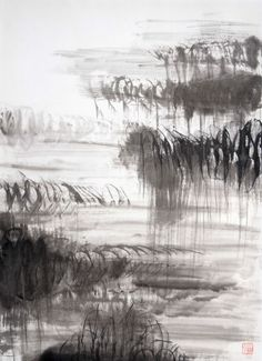Buy Water on Artistics and discover hundreds of other contemporary paintings by carefully selected contemporary artists. Japanese Ink Painting, Japanese Paper, Pen And Wash, Ink Wash, Traditional Ink, India Ink, Japanese Artists, Contemporary Paintings, Calligraphy