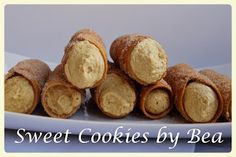 Cannolis (al horno) | Cocina Cannoli, Queso Fresco, Sweet Cookies, Relleno, Baked Potato, Potatoes, Baking, Ethnic Recipes, Food