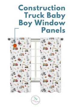 Complete the look of your Sweet Jojo Designs room with Construction Truck Window Curtain Panel Set. These window treatments instantly change the look and feel of any room, adding layers of warmth and style. Each panel measures 42in. x 84in. Fits standard rods up to .75 inches in diameter. Shop and complete the room decor of your little one. #windowpanel www.babysownroom.com Baby Boy Room Decor, Boy Decor, Baby Boy Rooms, Kids Rooms, Kids Bedroom Designs, Room Ideas Bedroom, Bedroom Decor, Window Panels, Panel Curtains