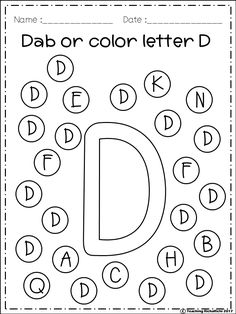 FREE Alphabet Dab (A-Z) FREE Freebies Alphabet Dap A-Z 26 pages. For PreK and Kindergarten. Art History Cooking Dance Drama Graphic Arts Instrumental Music Music Music Composition Visual Arts Vocal Music Other (Arts) Other (Music) Preschool Letters, Toddler Learning Activities, Preschool Learning Activities, Preschool Printables, Kindergarten Worksheets, Kindergarten Art, Alphabet Worksheets, Alphabet Activities, Alphabet Art