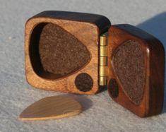 Guitarra de la caja de madera para elegir, soporte, de madera dura de la nuez negra, fieltro cierre alineado, magnético, regalo perfecto