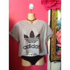 Sassy classic adidas crop top urban swag dope festival style ($15) ❤ liked on Polyvore featuring tops, adidas top, adidas, crop top, cut-out crop tops and urban tops