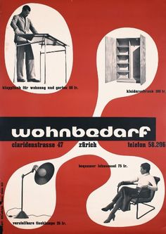 View WOHNBEDARF by Max Bill on artnet. Browse upcoming and past auction lots by Max Bill. Max Bill, Retro Typography, Typography Poster, Graphic Design Posters, Modern Graphic Design, International Typographic Style, Laszlo Moholy Nagy, Unique Poster, Iowa State