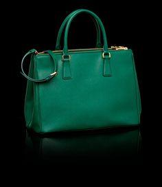 www.prada.com green handbag