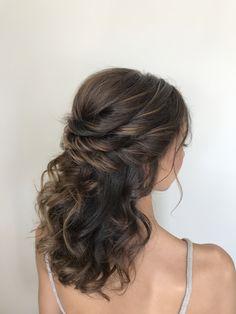 Bridal hair half up half down