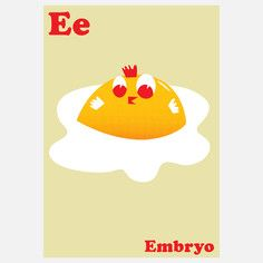 E for Embryo, Limited Edition Prints by Mark McGinnis, Signed and Numbered