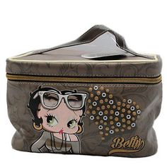 Betty-Boop-Hearts-Pochette-Handbag-Cosmetic-Vanity-Bag-School-Travel