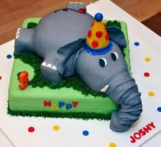 3d elephant cake - this is awesome.  I want an elephant cake for my birthday.  Love elephants!