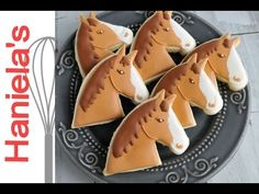 How to Decorate Horse Head Cookies with Royal Icing - YouTube