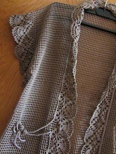 Crochet Bolero Pattern, Crochet Jacket, Crochet Cardigan, Crochet Yarn, Knit Crochet, Crochet Patterns, Crochet Summer Tops, Crochet Slippers, Crochet Fashion