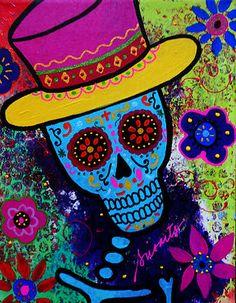 Magician Dia de Los Muertos penny auction