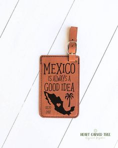 Mexico Luggage Tags Mexico Wedding Destination Wedding