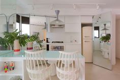 Decorando com a Si : Cozinhas muiiito inspiradoras!! Loft, Bed, Kitchen, Furniture, Home Decor, Garden Architecture, Two Story Houses, Kitchens, Cooking