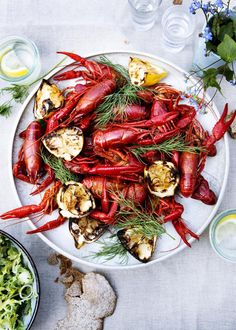 Grilled. crayfish party