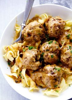Creamy Swedish Meatballs Recipe  - with a special 'secret ingredient'... #recipes #homestead #homesteading