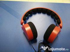 Căști audio cu bandă, culoare roșu Audio, Over Ear Headphones, Sash