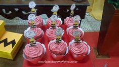 Cupcakes 4 Festa Infantil Snoopy do Pedro