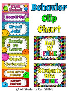 Behavior Management - Calendars And A Clip Chart - All Students Can Shine