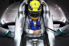 Lewis Hamilton schloss am  22. Februar 2013 den zweiten Wintertest des Jahres für das MERCEDES AMG PETRONAS Formel 1-Team in Barcelona ab.