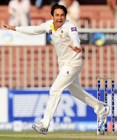 Saeed Ajmal struck twice in quick succession after tea to help Pakistan seize the advantage on the first day of the Sharjah Test