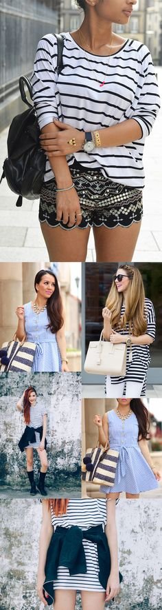 Fashion Striped Dresses&Top For Summer,Fashion Trends