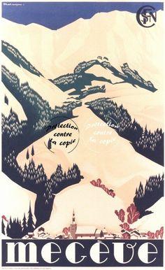 Ski Vintage, Vintage Ski Posters, Evian Les Bains, Tourism Poster, Travel Ads, Ville France, France Travel, Skiing, Station Ski