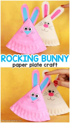 Paper Plate Bunny Rocking Paper Plate Bunny Craft for Kids - Easy Easter Craft for Kids to MakeRocking Paper Plate Bunny Craft for Kids - Easy Easter Craft for Kids to Make Origami For Kids Animals, Animal Crafts For Kids, Monkey Crafts, Bunny Crafts, Crafts For Teens To Make, Crafts To Do, Easy Crafts, Paper Plate Crafts, Paper Plates