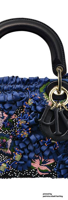 "Dior ""Runway"" Bag Entirely Embroidered with Flowers made of Sequins and Bows - Winter 2016"