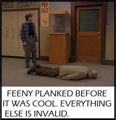 That's pure genius. I never saw this episode though, or at least don't remember Feeny doing that. XD