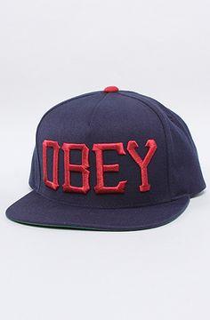 The Cedar Snapback in Navy by Obey