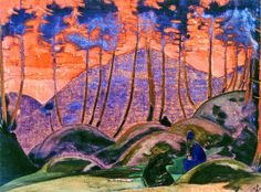 Roerich, Nicholas (1874-1947) - 1922 Language of the Forest (Nicholas Roerich Museum, Moscow, Russia) by RasMarley, via Flickr