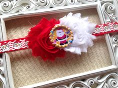 Perfect for Christmas!    This beautiful headband is perfect for fragile Childrens heads. Very soft & comfortable! Chiffon Red and White