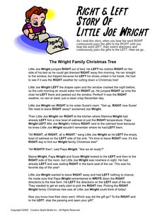 Right & Left - Little Joe Wright Christmas game More