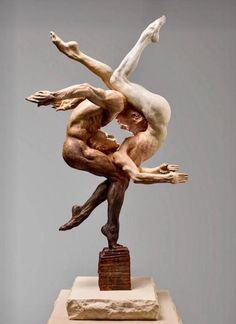 Available for sale from Dawson Cole Fine Art, Richard MacDonald, Duality Bronze, 27 3 4 × 15 1 2 × 14 4 5 in Human Sculpture, Abstract Sculpture, Art Sculptures, Ceramic Sculptures, Fantasy Kunst, Fantasy Art, Arte Do Hip Hop, Oeuvre D'art, Wood Carving