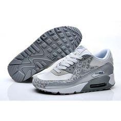 Leopard/Silver/Grau Damen Nike Air Max 90 Flower Print Series Training Schuhe