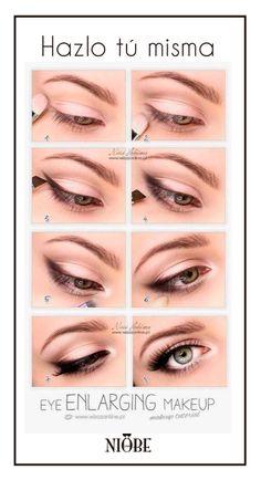 maquillaje alargador de ojos