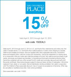 7369bddfc0 Childrens Place coupon   Childrens Place promo code from The Coupons App.  off everything at The Childrens Place