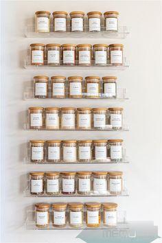 Spice Rack Organization, Kitchen Organization Pantry, Home Organisation, Organized Pantry, Pantry Storage, Storage For Spices, Spice Rack Organiser, Kitchen Pantry Design, Tea Storage