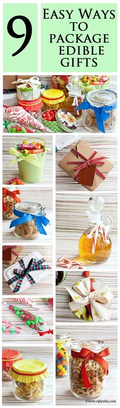 9 super easy ways to package edible gifts this holiday season! From cakewhiz.com