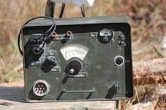 KIEV, UKRAINE -SEPT 18 :Original German military radio during historical reenactment of 1941 WWII, September 18, 2011 in Kiev, Ukraine  Stoc...