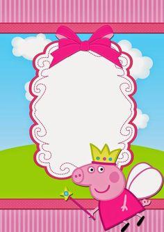 Peppa Pig Fairy Free Printable Invitations Invitacion Birthday