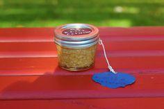 Handmade, all-natural oatmeal body scrub