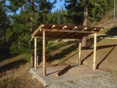 firewood storage shed plans | The log woodshed... made from Craig Land Timber...